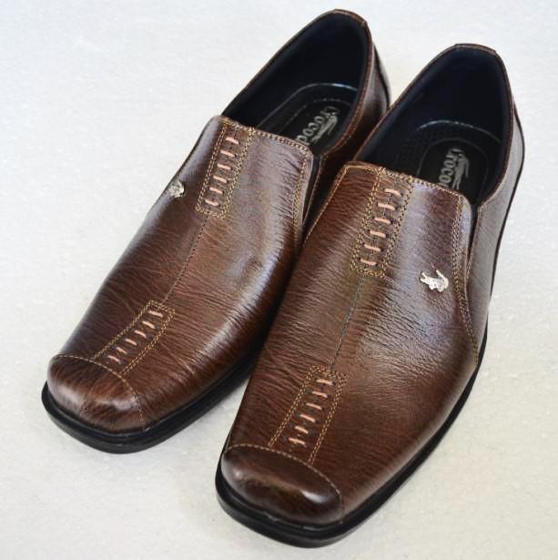 Sepatu kulit kerja pantofel pria branded crocodile A8 Coklat - Cokelat Tua fc9fbac36d