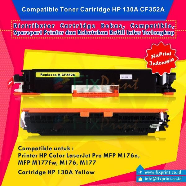 harga Compatible toner printer hp laserjet m176 m177fw m551n cf352a yellow Tokopedia.com