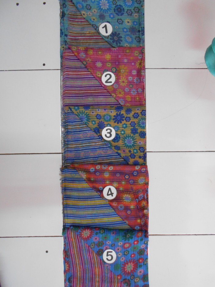 Jilbab Segi Empat Umama two tone print UTP3(Bolak Balik motif/Pashmina