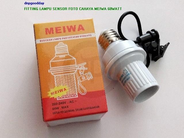 harga Fitting lampu sensor foto cahaya meiwa 60watt Tokopedia.com