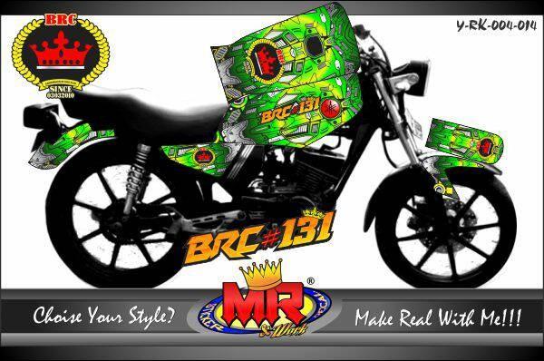 Jual Decal Stiker Striping Motor Rx King Custom Desain Kab Klaten Mr Stiker Tokopedia