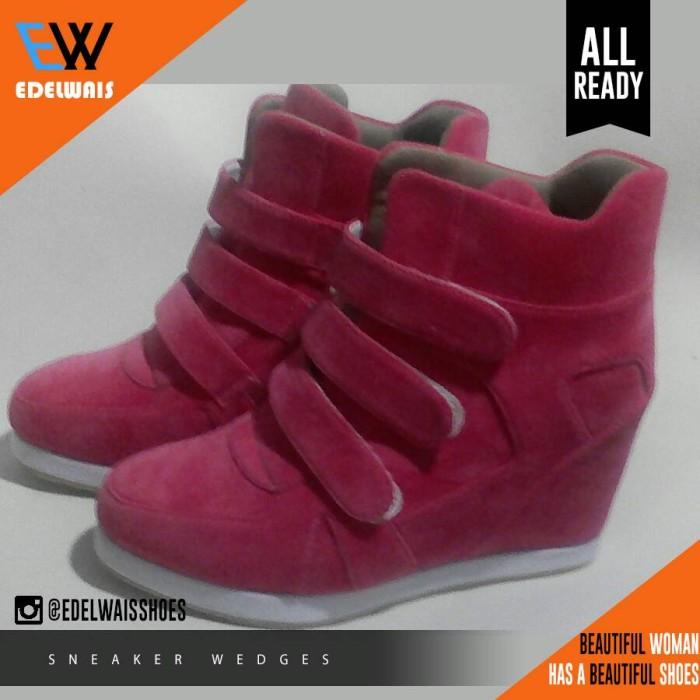harga Sneaker wedges sepatu wanita nike adidas heels boots converse pink Tokopedia.com