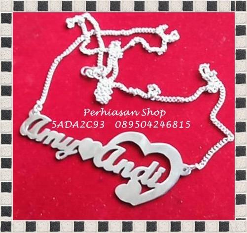 harga Kalung nama perhiasan nama bahan monel asli anti karat anti hitam Tokopedia.com