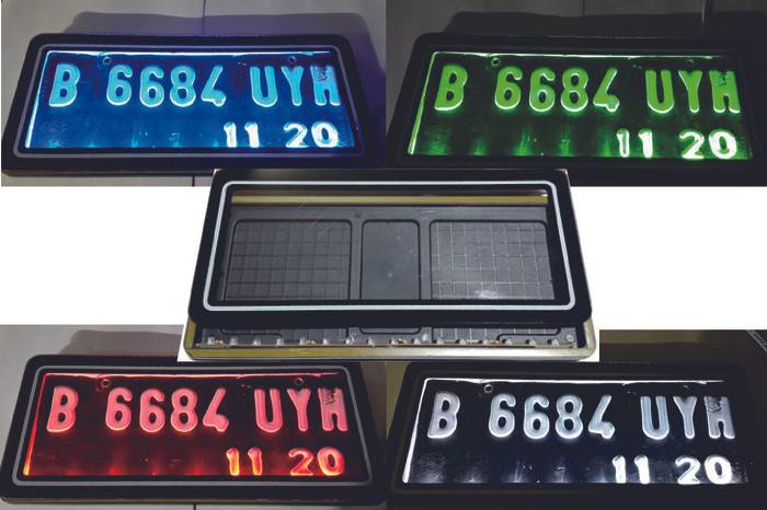 harga Cover tempat dudukan plat no motor baru akrilik lampu led senja rem Tokopedia.com