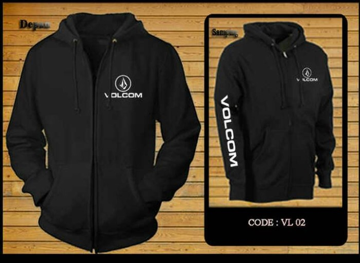 Jual jaket hoodie sweater zipper VOLCOM HITAM - HS-CLOTING  513af326ea