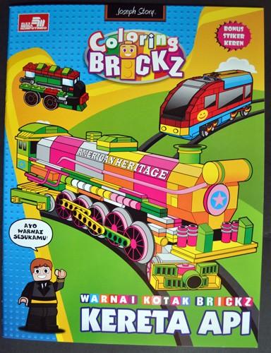 Jual Buku Mewarnai Brickz Kereta Api Bonus Stiker Keren Kota