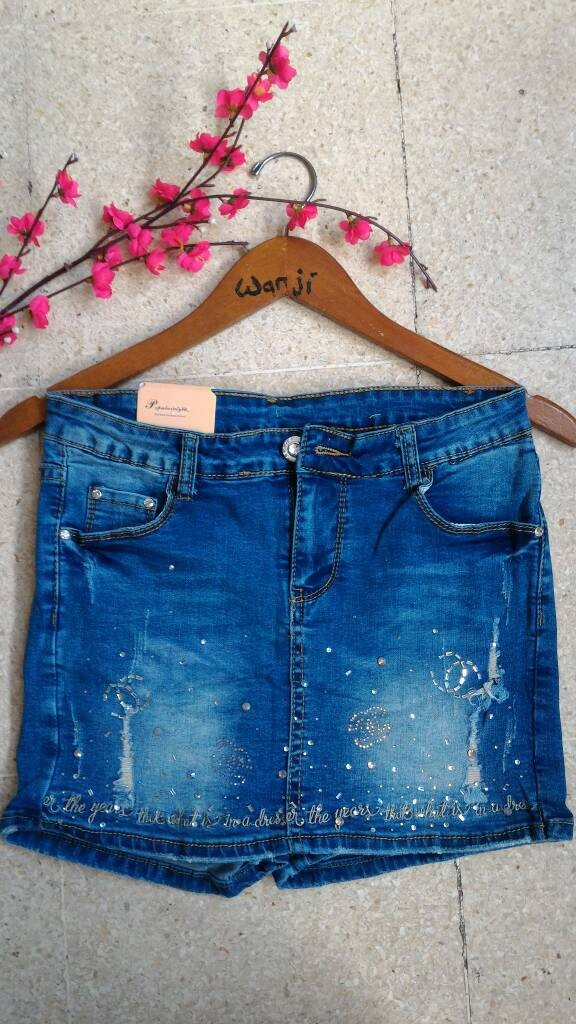 harga Rok celana import/ rok korea bangkok/ rok jeans keren trend modis Tokopedia.