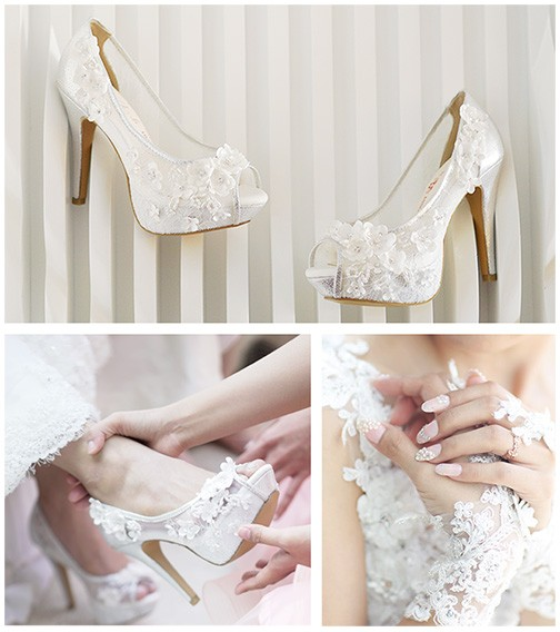 heels for a wedding. jolie moda blooms high heels wedding shoes for a
