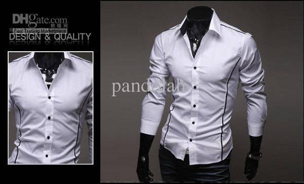 harga Bajau kemeja cowok pria kerja formal slim fit list hitam warna putih Tokopedia.com