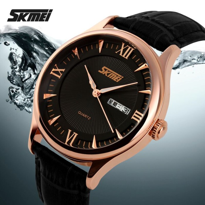 harga Jam tangan pria original skmei kulit skmei men's watch casual Tokopedia.com
