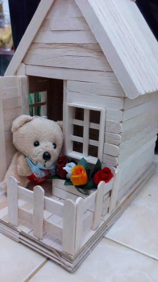 Jual Miniatur Rumah Dari Stick Es Krim Stik Es Krim Rumah