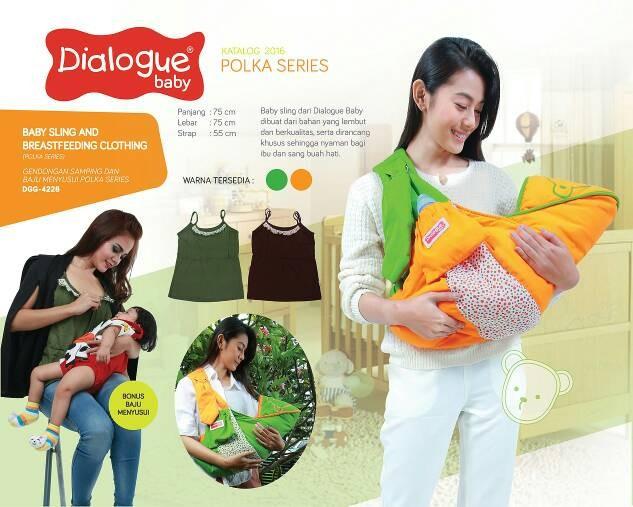Gendongan bayi ransel dialogue polka series dgg 4228