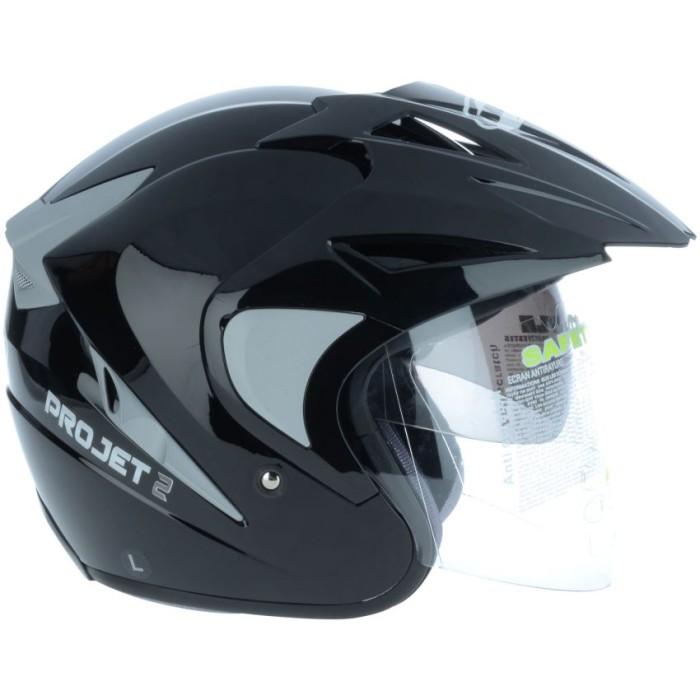 harga Helm mds projet 2 double visor half face black Tokopedia.com