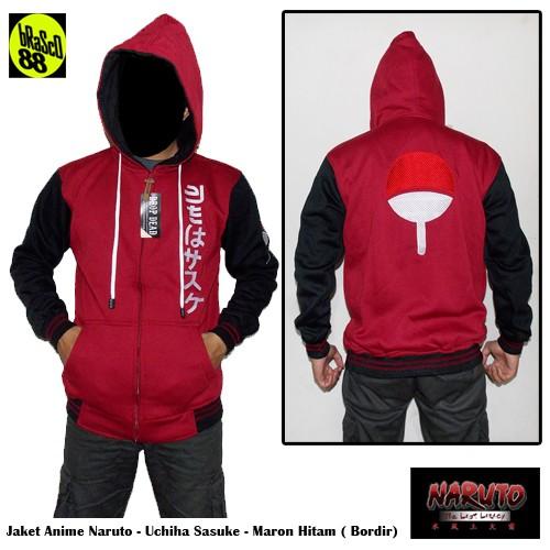 harga Jaket anime naruto uchiha sasuke maroon hitam Tokopedia.com