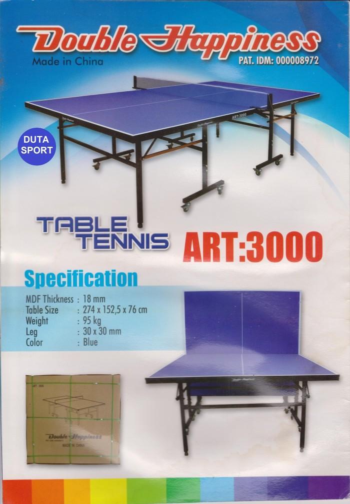 Meja Pingpong Tenis Double Happiness ART 3000 Import