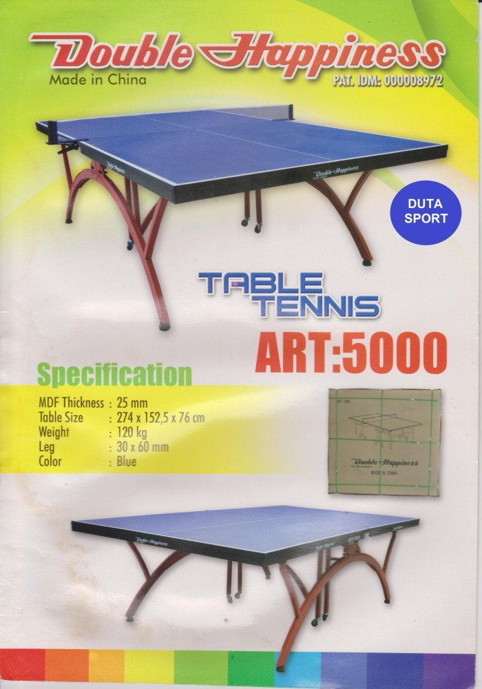 Meja Pingpong Tenis Double Happiness ART 5000 Import