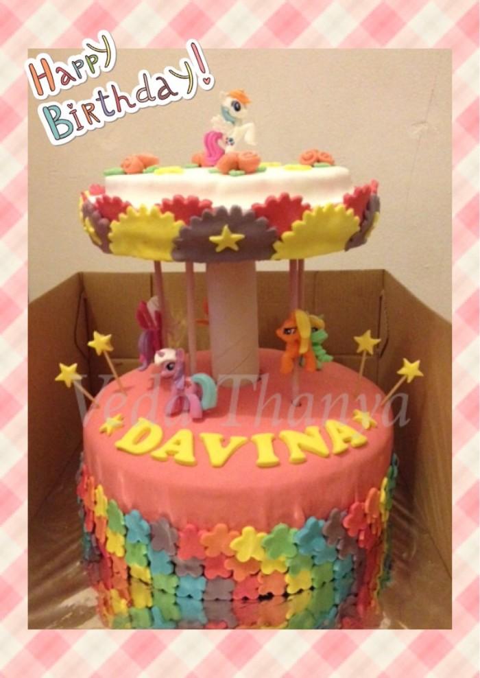 Jual Kue Tart My Little Pony Carousel Jakarta Selatan Veda Thanya Cakes Tokopedia