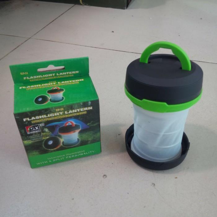 Foto Produk LAMPU CAMPING / LAMPU TENDA LIPAT | OUTDOOR Bisa Jadi Senter + Lentera dari grosirltc