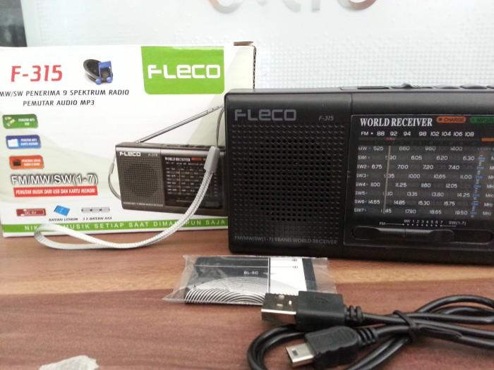 ... harga Speaker pemutar musik radio + mp3 mini portable fleco f-315 f315 Tokopedia.