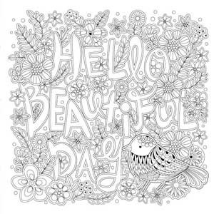 BEAUTiFUL DAY KOREAN COLORING BOOK FOR ADLTS