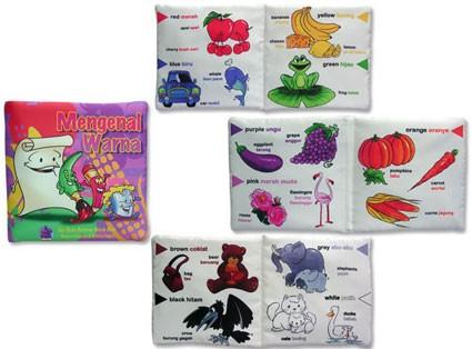 Foto Produk Buku Bantal mengenal Warna, mainan edukatif edukasi anak, bayi balita dari Edukasi Toys