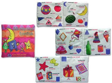 Foto Produk Buku Bantal mengenal Bentuk, mainan edukatif edukasi anak, bayi balita dari Edukasi Toys