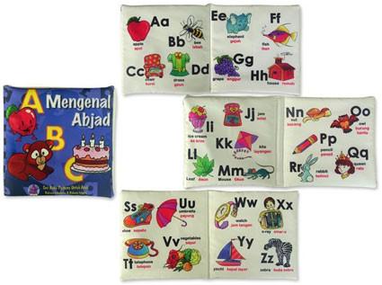 Foto Produk Buku Bantal mengenal Abjad, mainan edukatif edukasi anak, bayi balita dari Edukasi Toys