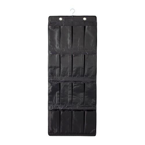 Ikea skubb hanging shoe organizer black tempat sepatu gantung hitam