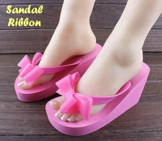 40b7d0c5b2d0 Jual Jelly Shoes Pita Ribbon Elizabeth Js30 Sandal Jelly Wedges ...