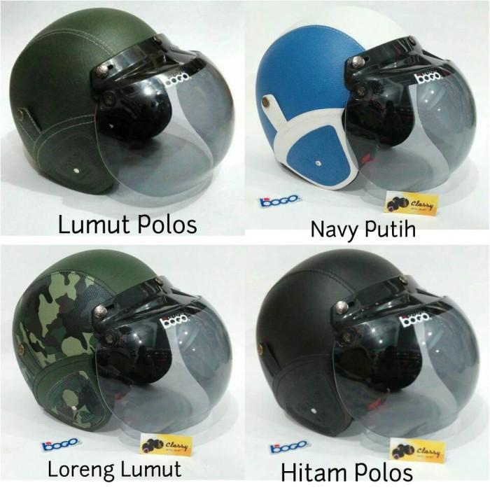Helm Bogo Retro Loreng Hijau Army