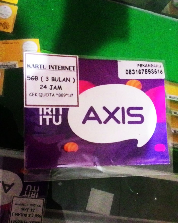 Foto Produk Kartu Perdana Internet XL AXIS 5GB 5 GB 3 Bulan Murah dari pekanbaru corner