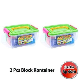 harga Creative block container set of 2 mainan edukasi anak(oct9217mm1) Tokopedia.com