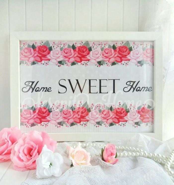 harga Poster / hiasan pajangan dinding / wall decor shabby chic - sweet home Tokopedia.com