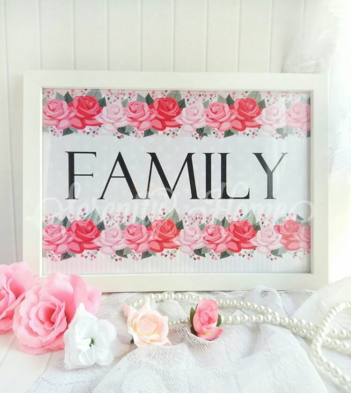 harga Poster / hiasan pajangan dinding / wall decor shabby chic - family Tokopedia.com