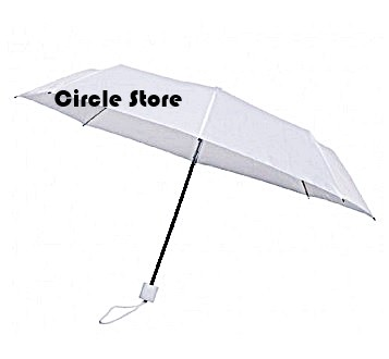 Payung lipat transparan white doff
