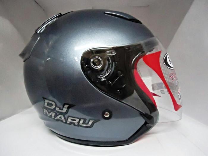 Helm KYT DJMARU DJ Maru Abu Grey Half Face Gray