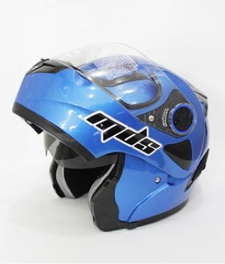 harga Helm mds pro rider flip up half face full double visor blue Tokopedia.com