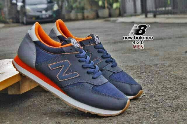 Jual New Balance 373 Navy Orange grey - Kota Bandung - Reven Fashion Shop   Tokopedia