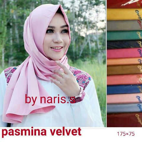 Jual Jilbab Hijab Pashmina Velvet Elegan Kota Surabaya Finex Shop Tokopedia