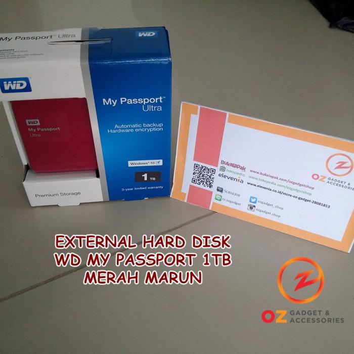 WD My Passport Ultra 1TB Premium MAROON RED USB 30