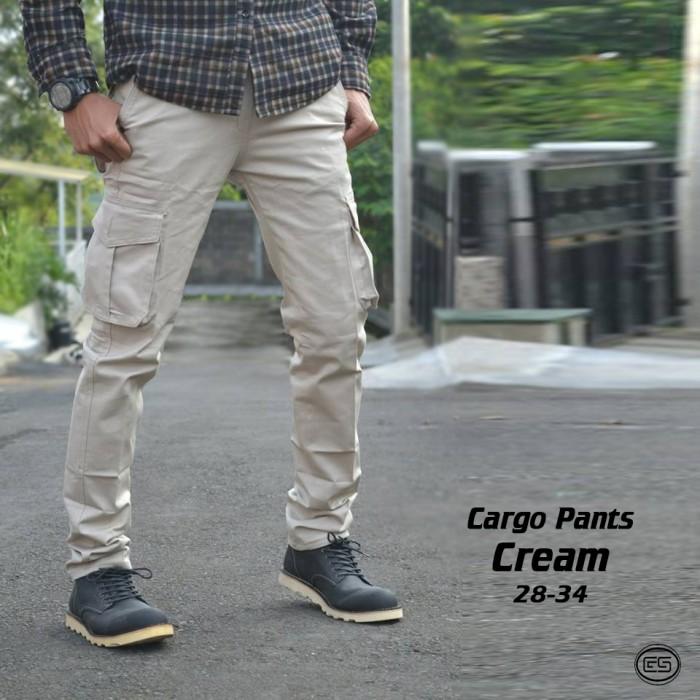harga Celana kargo panjang krem | cream | putih | chino | gunung | cargo pdl Tokopedia.com