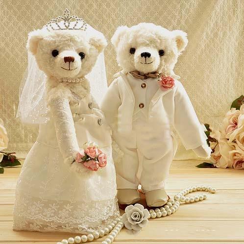 Jual BONEKA PERNIKAHAN - WB005 WEDDING BEAR - Pretty Souvenirs ... 45fd783396