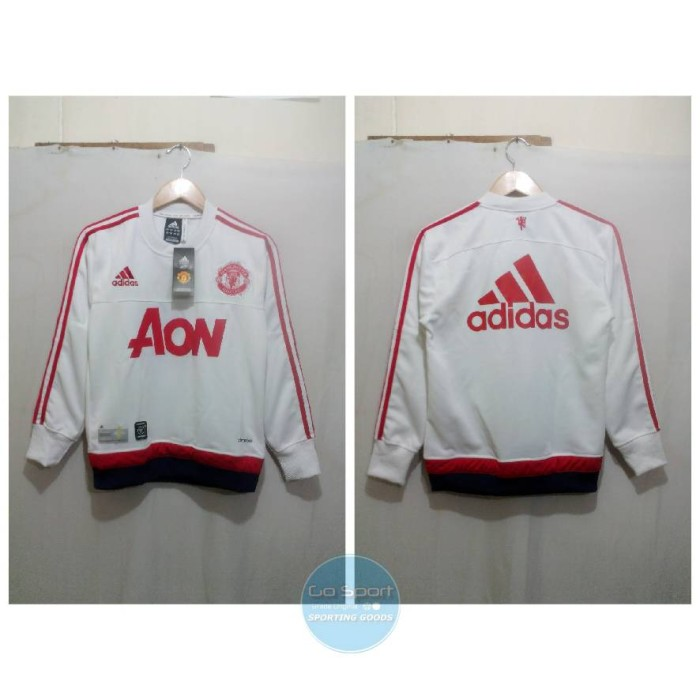 5508469b8 Jual Sweater Training MANCHESTER UNITED FC Putih 15 16 adidas - Kota ...