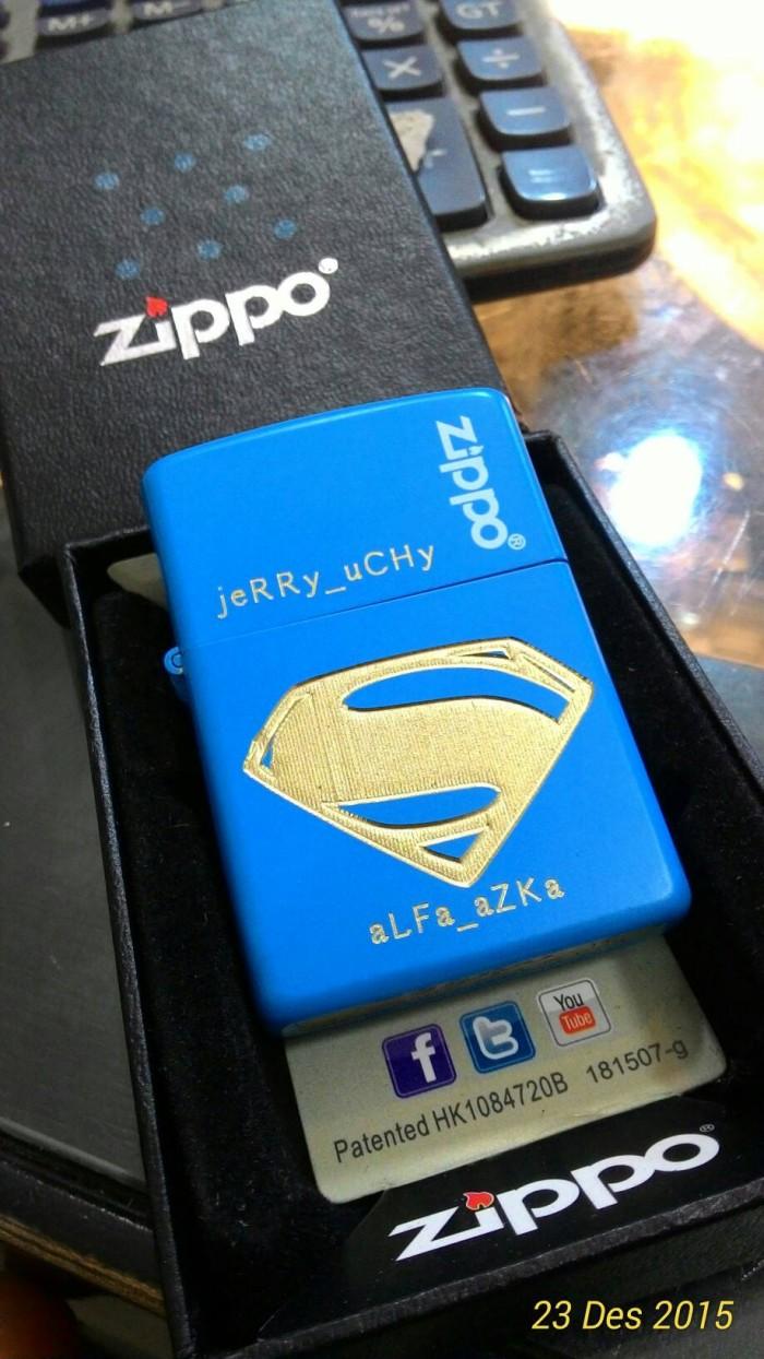 Jual Zippo Costom Logo Supermen Replica Kw Murah