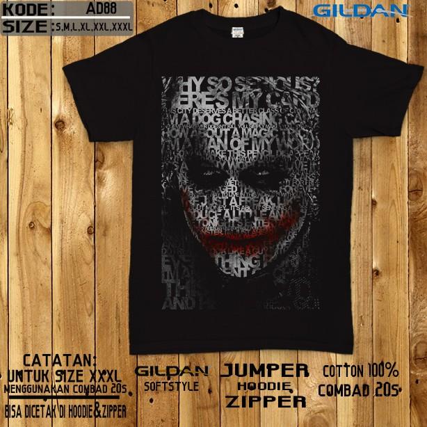 harga Kaos the joker-kaos batman original gildan softtsyle Tokopedia.com