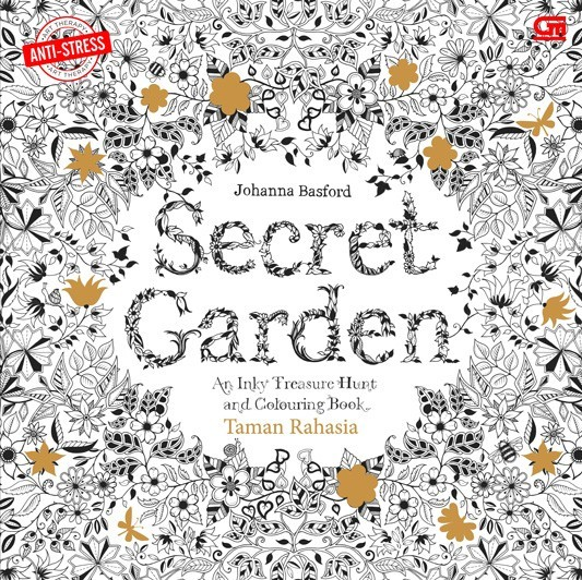 Secret Garden Taman Rahasia Coloring Book For Adults By Johanna B