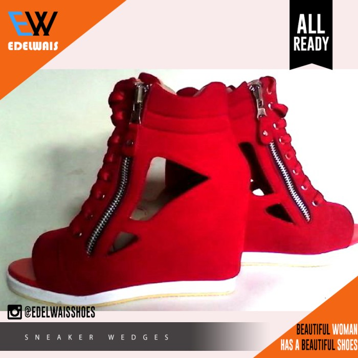 harga Sneaker wedges boot stylish kets heels adidas nike kickers Tokopedia.com
