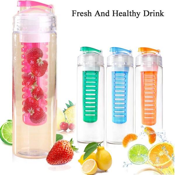 Tritan Fruit Infuser Water Bottle BPA Free | Botol Minum Sari Buah