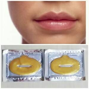 Masker Bibir Gold Collagen Lip Mask Emas Kolagen