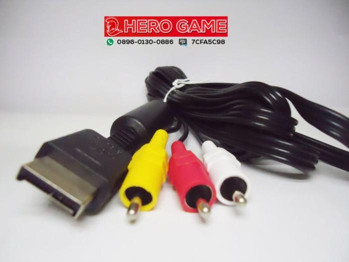 harga Kabel av ps2 ps3 / cable rca ps2 original mesin Tokopedia.com